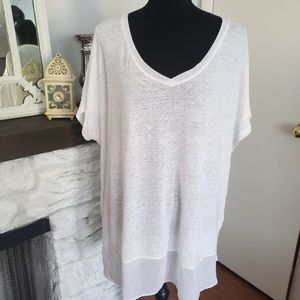 Lane Bryant white short sleeve top. Size 22/24